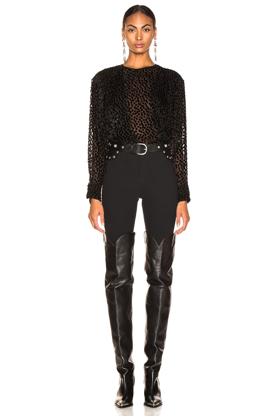Image 4 of Isabel Marant Midway Top in Black