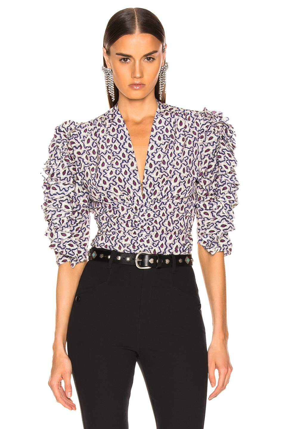 Image 1 of Isabel Marant Andora Top in Blue