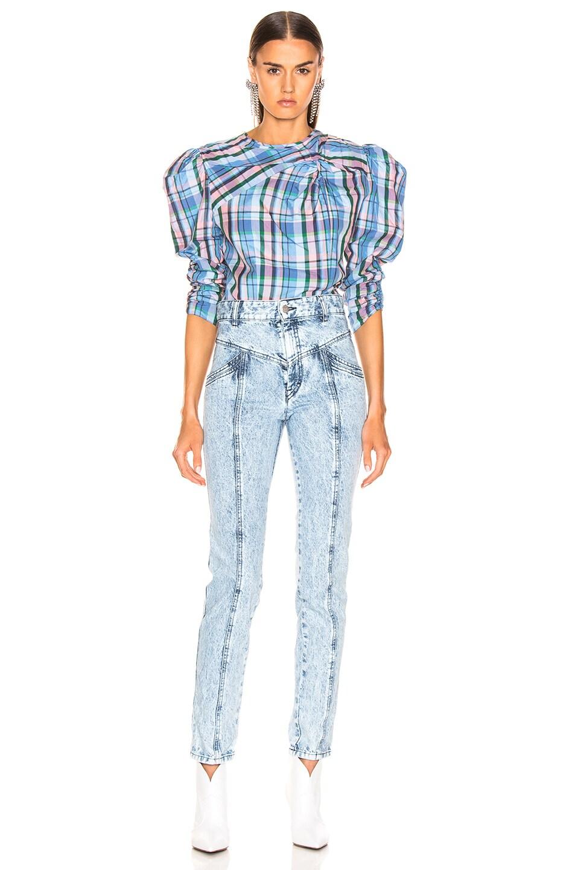Image 4 of Isabel Marant Esmee Top in Blue