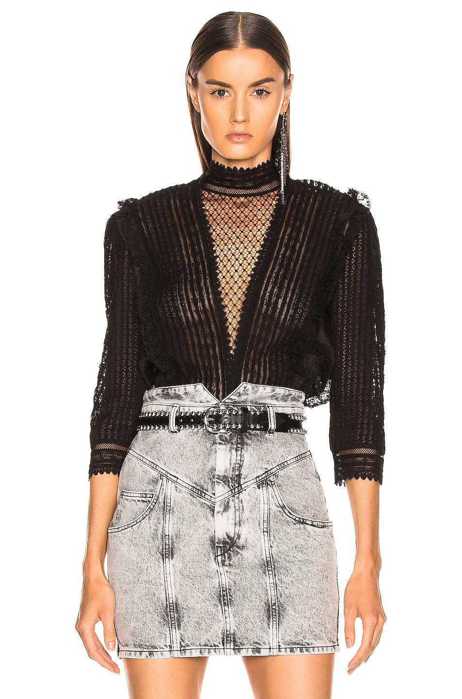 Image 1 of Isabel Marant Roscoe Top in Black