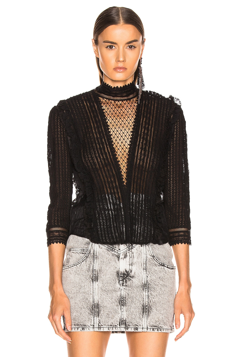 Image 2 of Isabel Marant Roscoe Top in Black