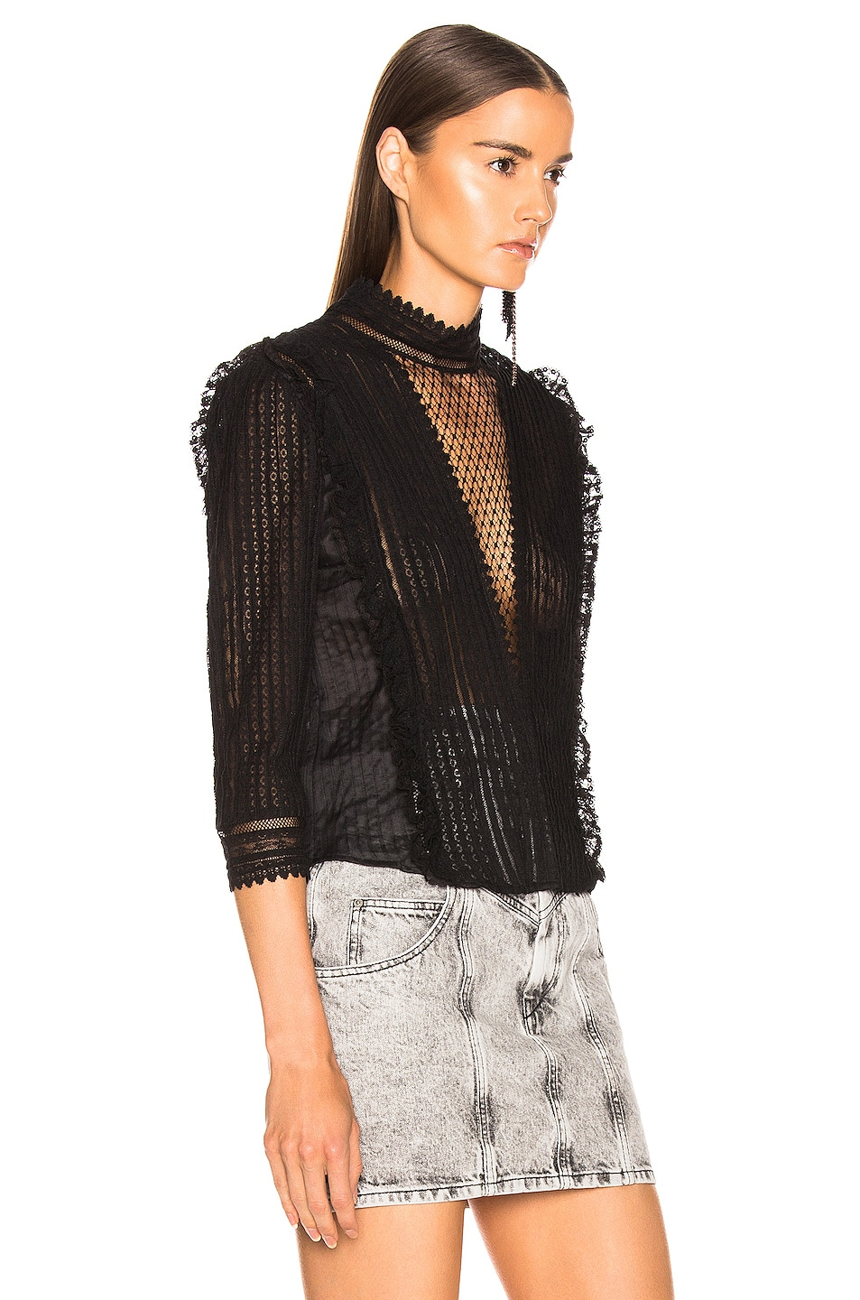 Image 3 of Isabel Marant Roscoe Top in Black