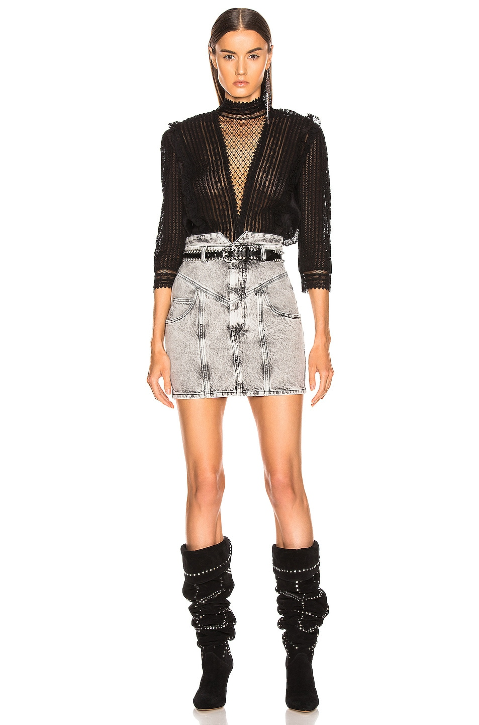 Image 5 of Isabel Marant Roscoe Top in Black