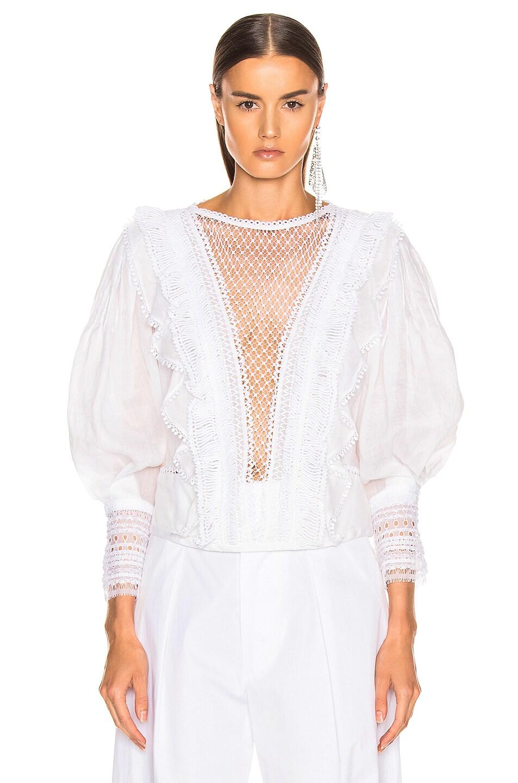 Image 2 of Isabel Marant Rosen Top in White