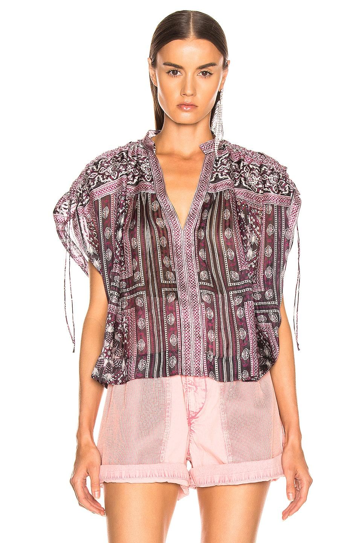 Image 2 of Isabel Marant Ezer Top in Raspberry