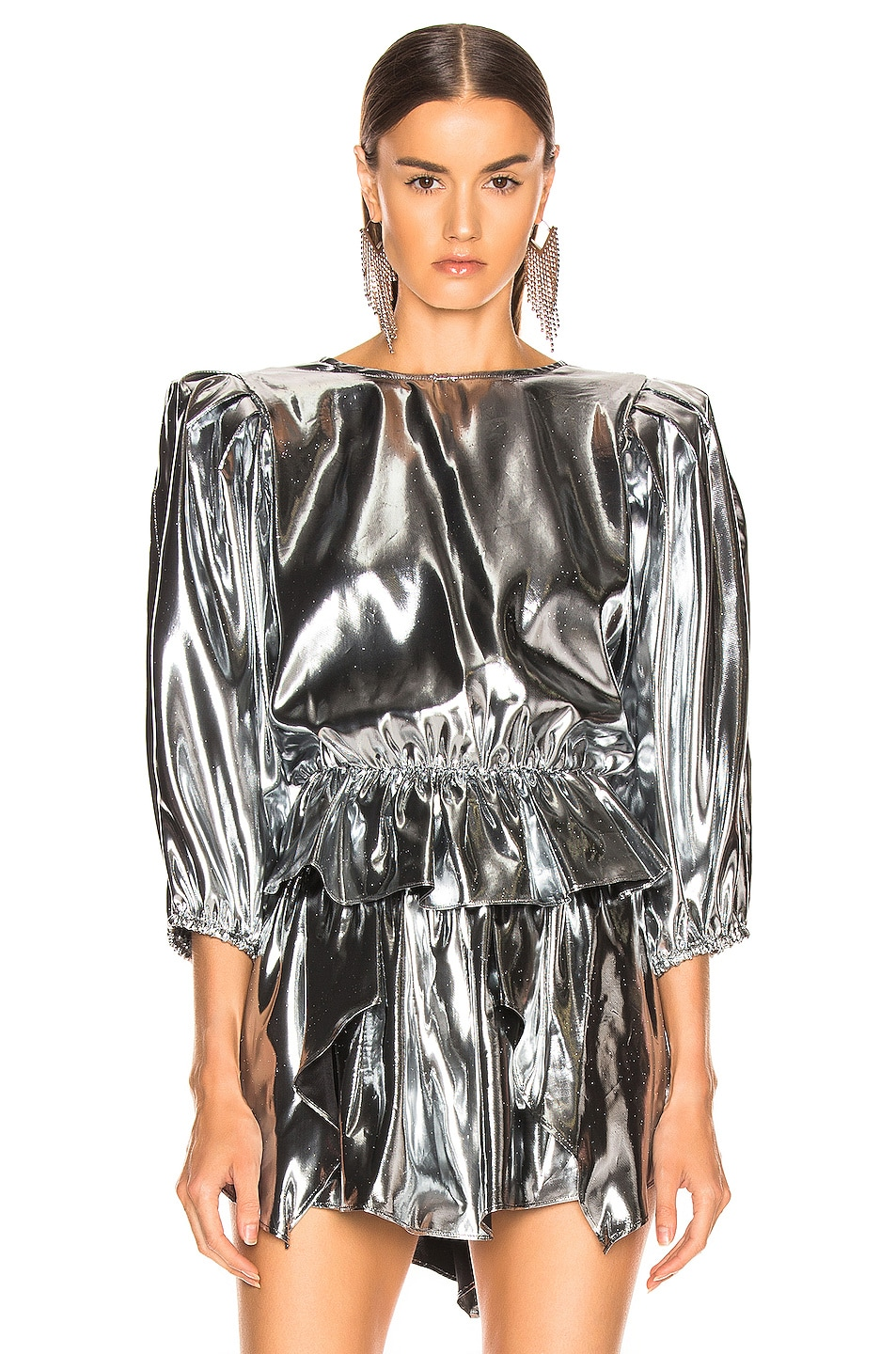 Image 2 of Isabel Marant Kyama Top in Silver