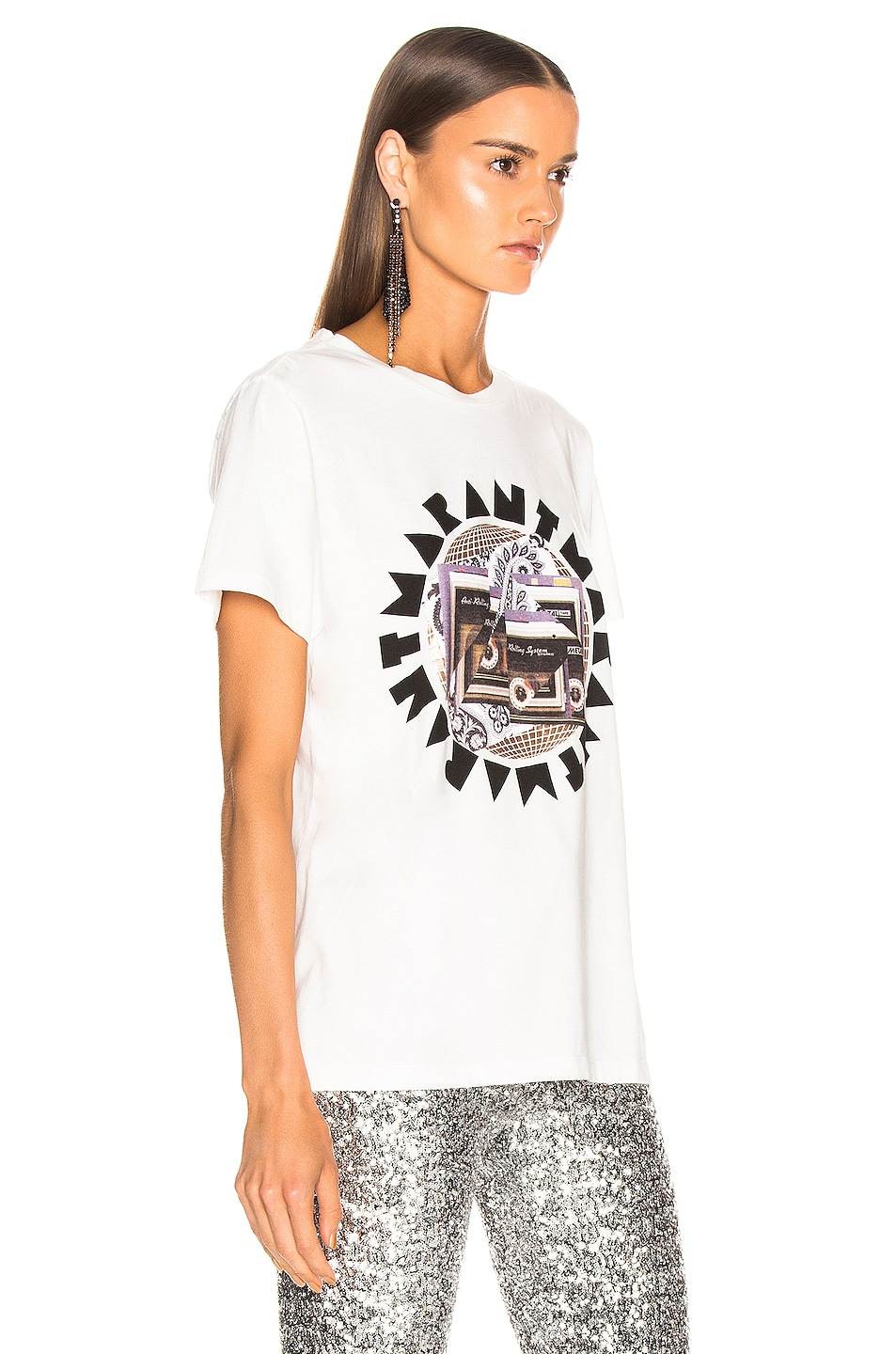 Image 2 of Isabel Marant Zaof Tee in White