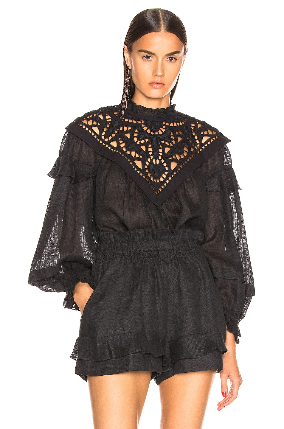 Image 1 of Isabel Marant Geoffrey Top in Faded Black