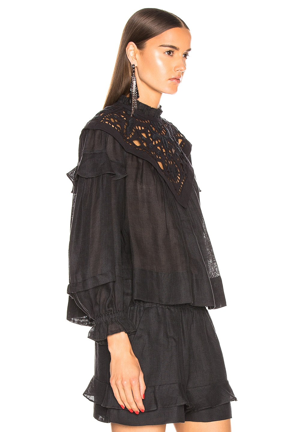 Image 2 of Isabel Marant Geoffrey Top in Faded Black