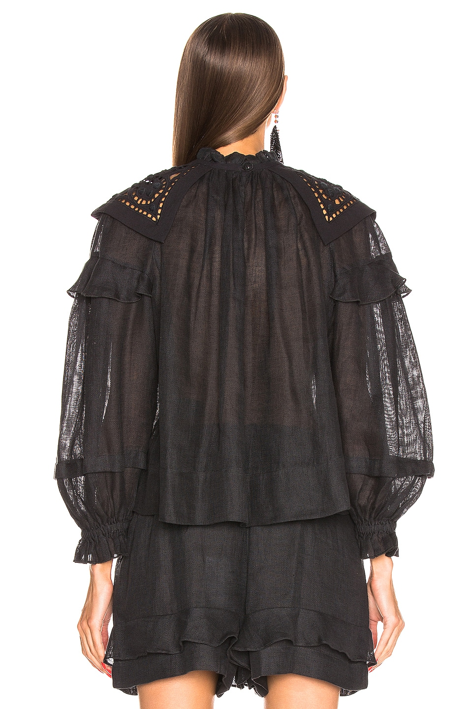 Image 3 of Isabel Marant Geoffrey Top in Faded Black