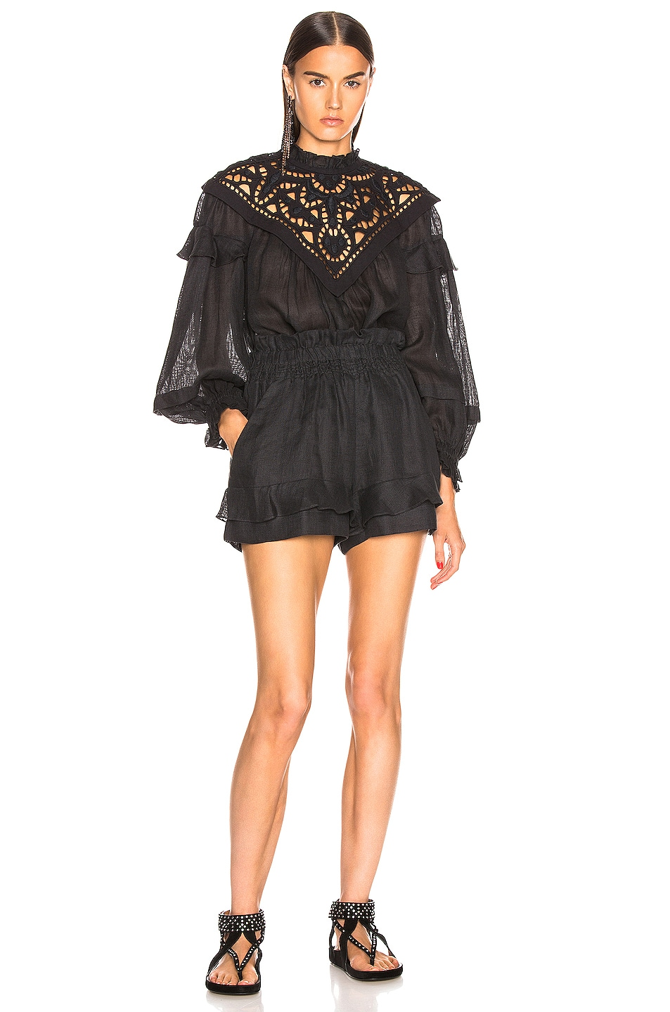 Image 4 of Isabel Marant Geoffrey Top in Faded Black