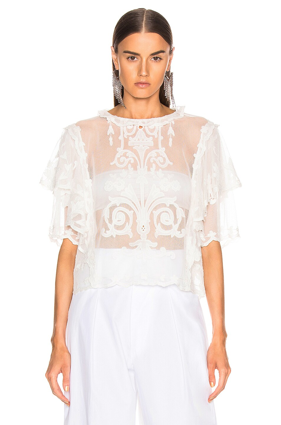 Image 1 of Isabel Marant Seal Top in White