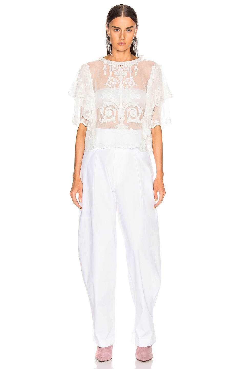 Image 4 of Isabel Marant Seal Top in White