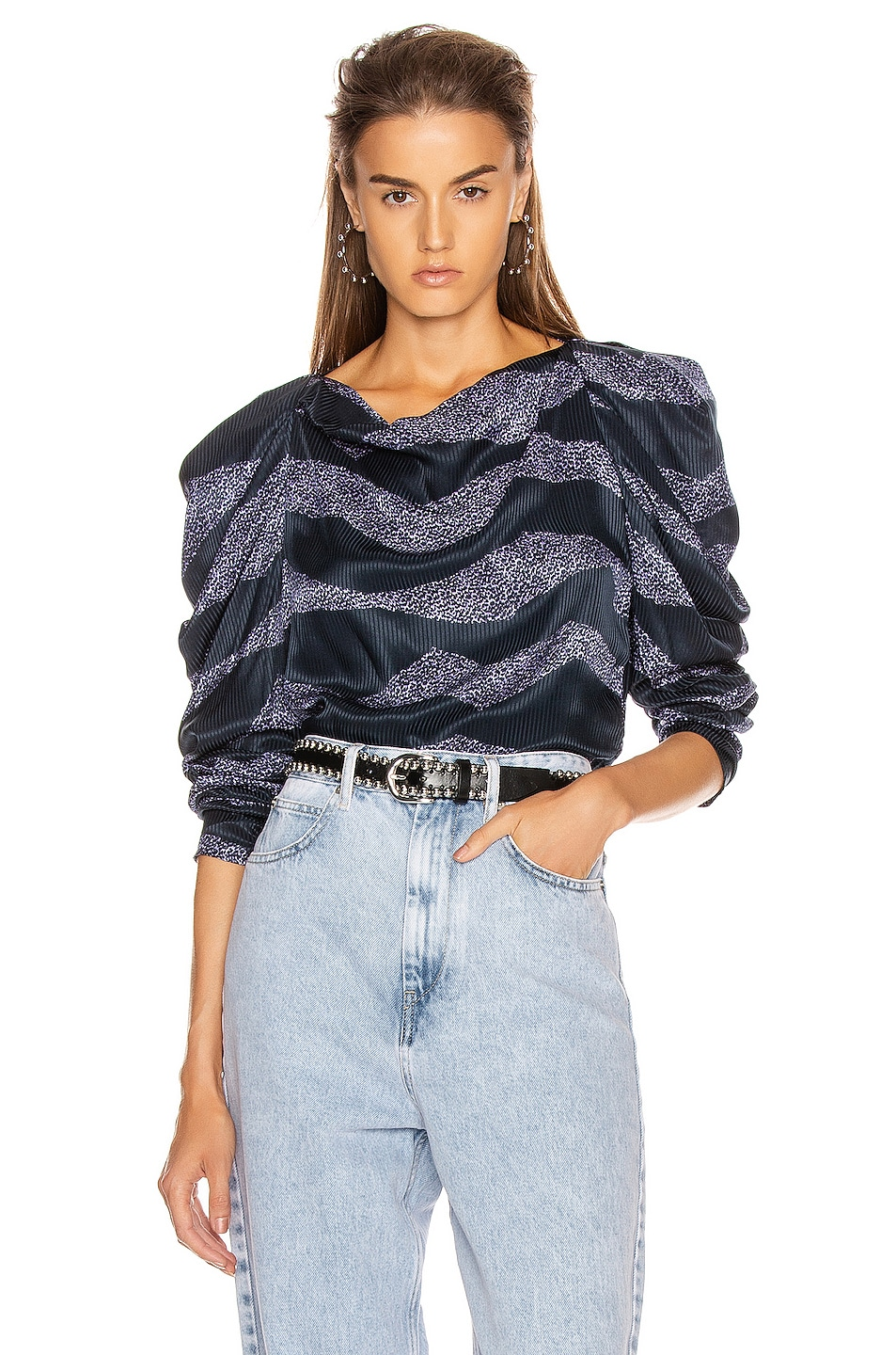 Image 1 of Isabel Marant Crem Top in Midnight