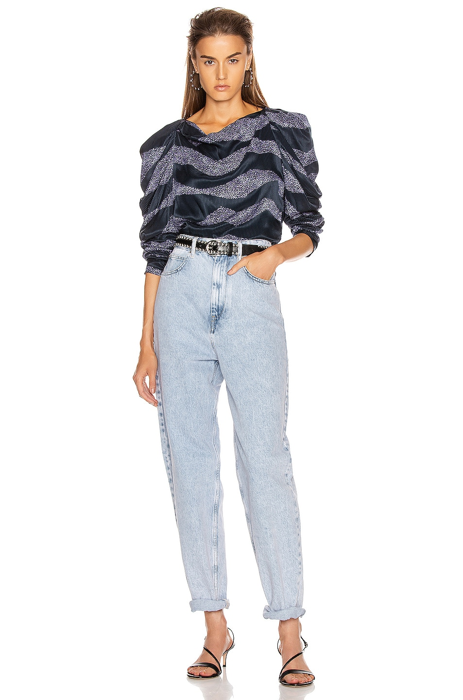 Image 4 of Isabel Marant Crem Top in Midnight