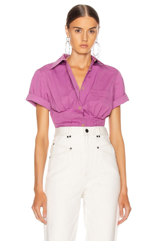 Image 1 of Isabel Marant Gramy Shirt in Fuchsia