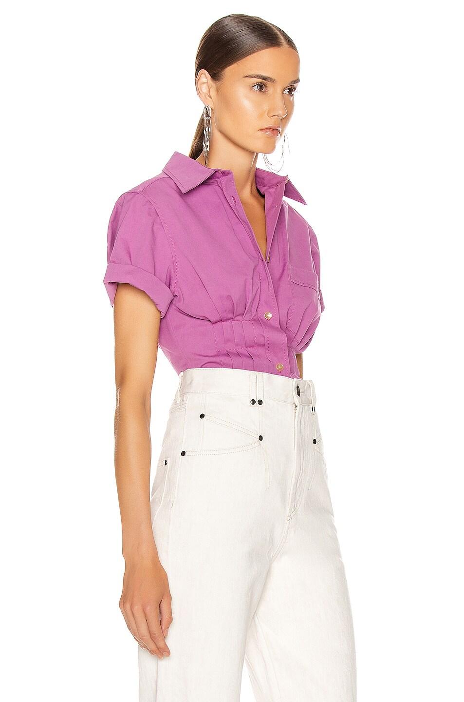 Image 3 of Isabel Marant Gramy Shirt in Fuchsia