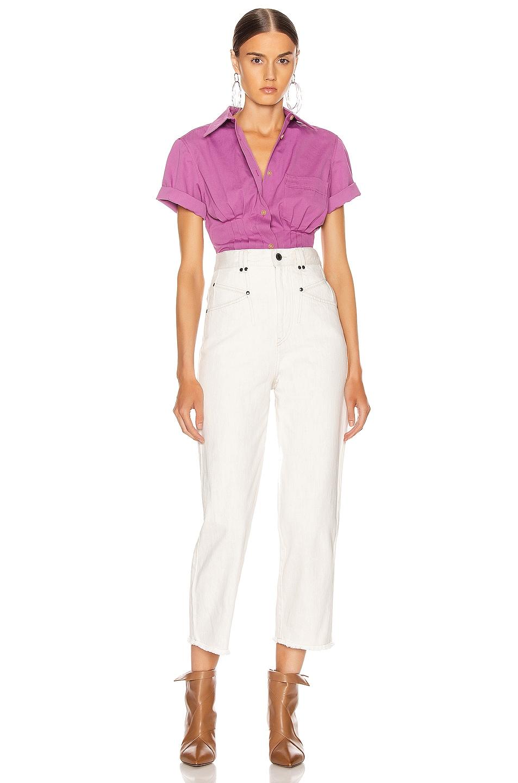 Image 5 of Isabel Marant Gramy Shirt in Fuchsia