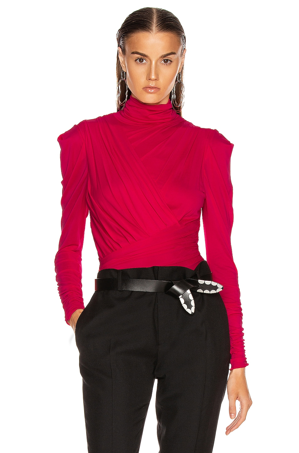 Image 1 of Isabel Marant Jalford Top in Neon Pink