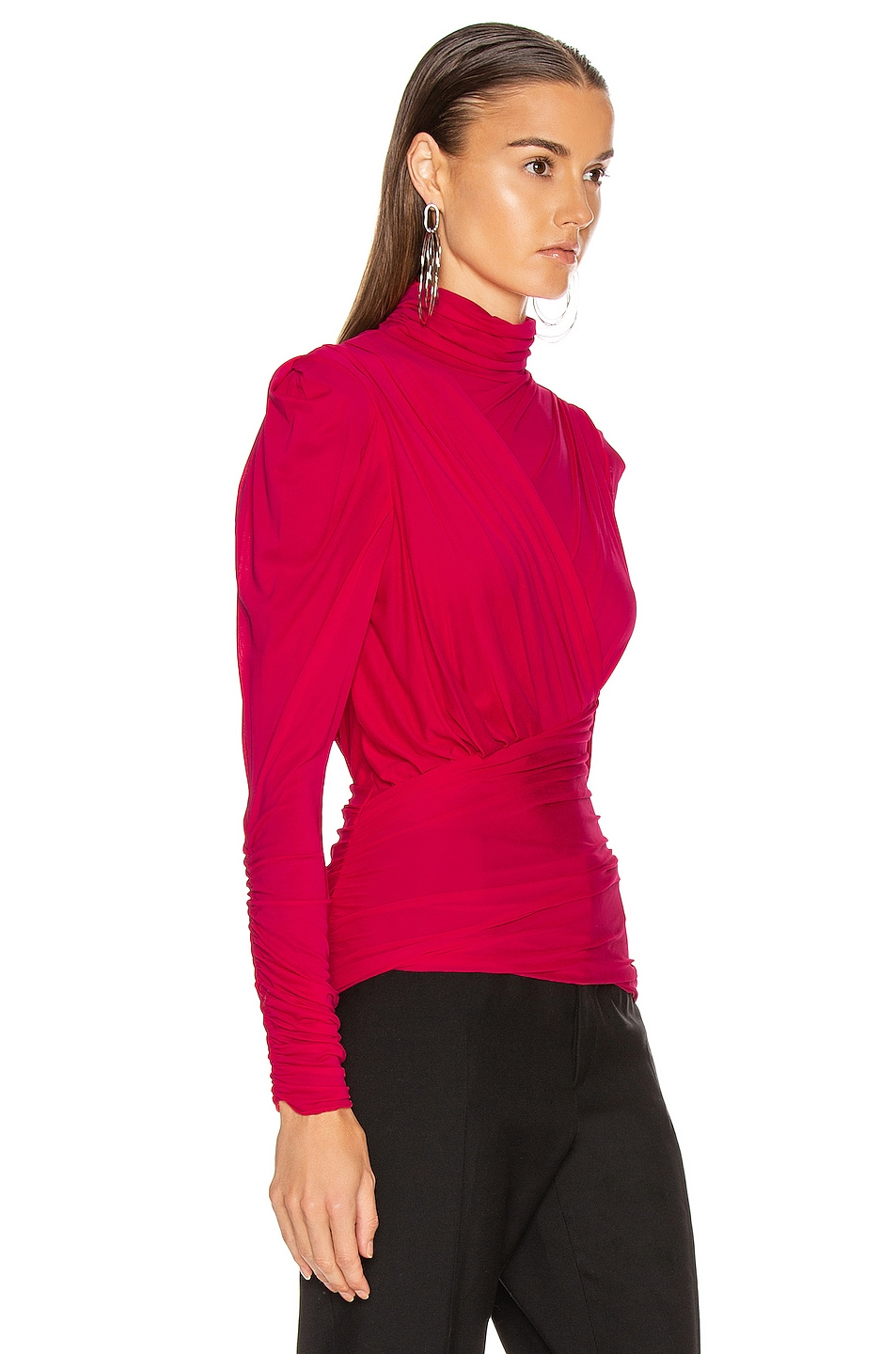 Image 2 of Isabel Marant Jalford Top in Neon Pink