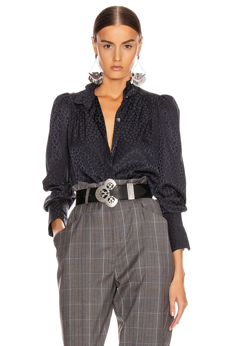 Image 1 of Isabel Marant Lamia Top in Anthracite
