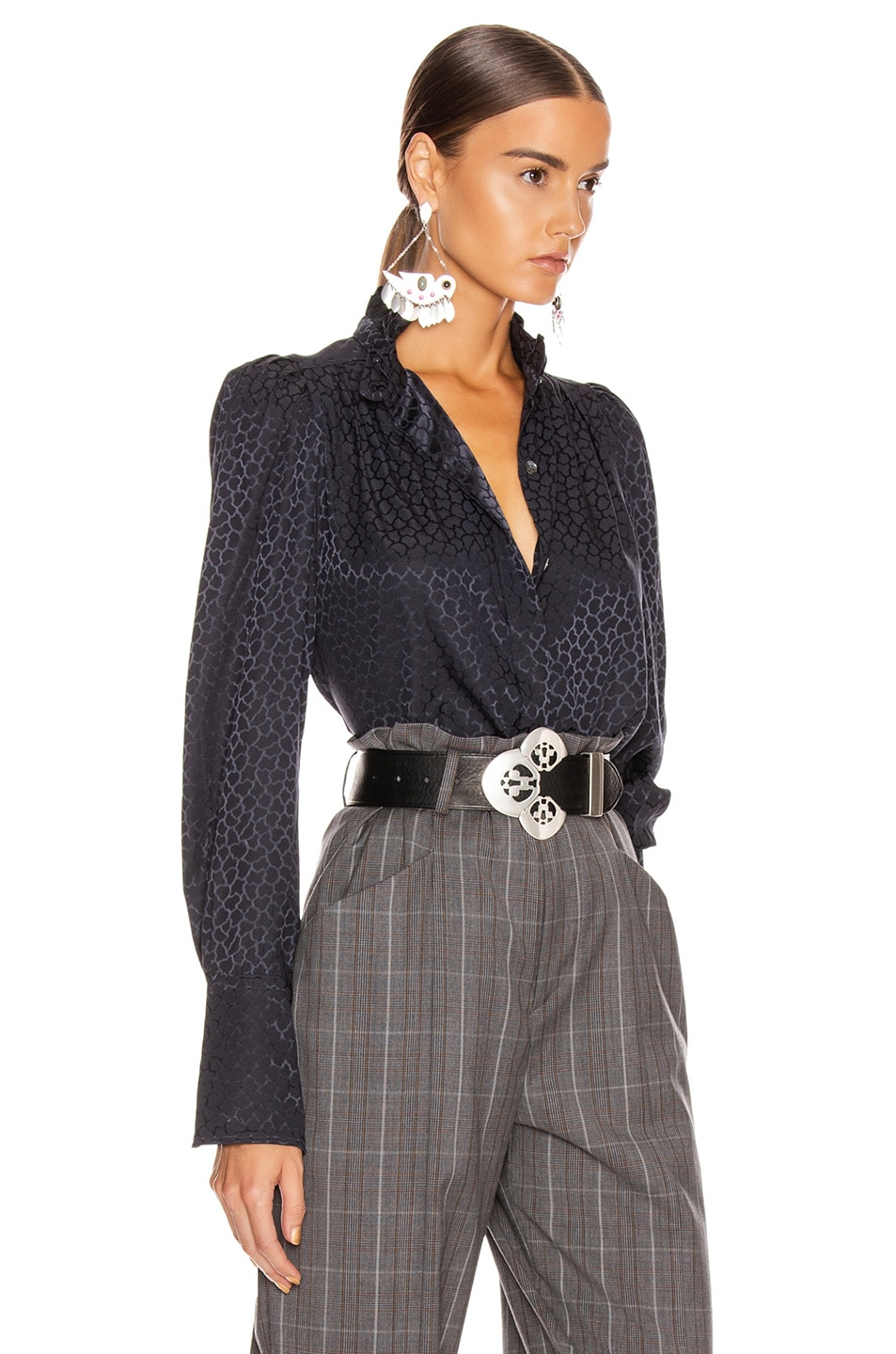 Image 2 of Isabel Marant Lamia Top in Anthracite