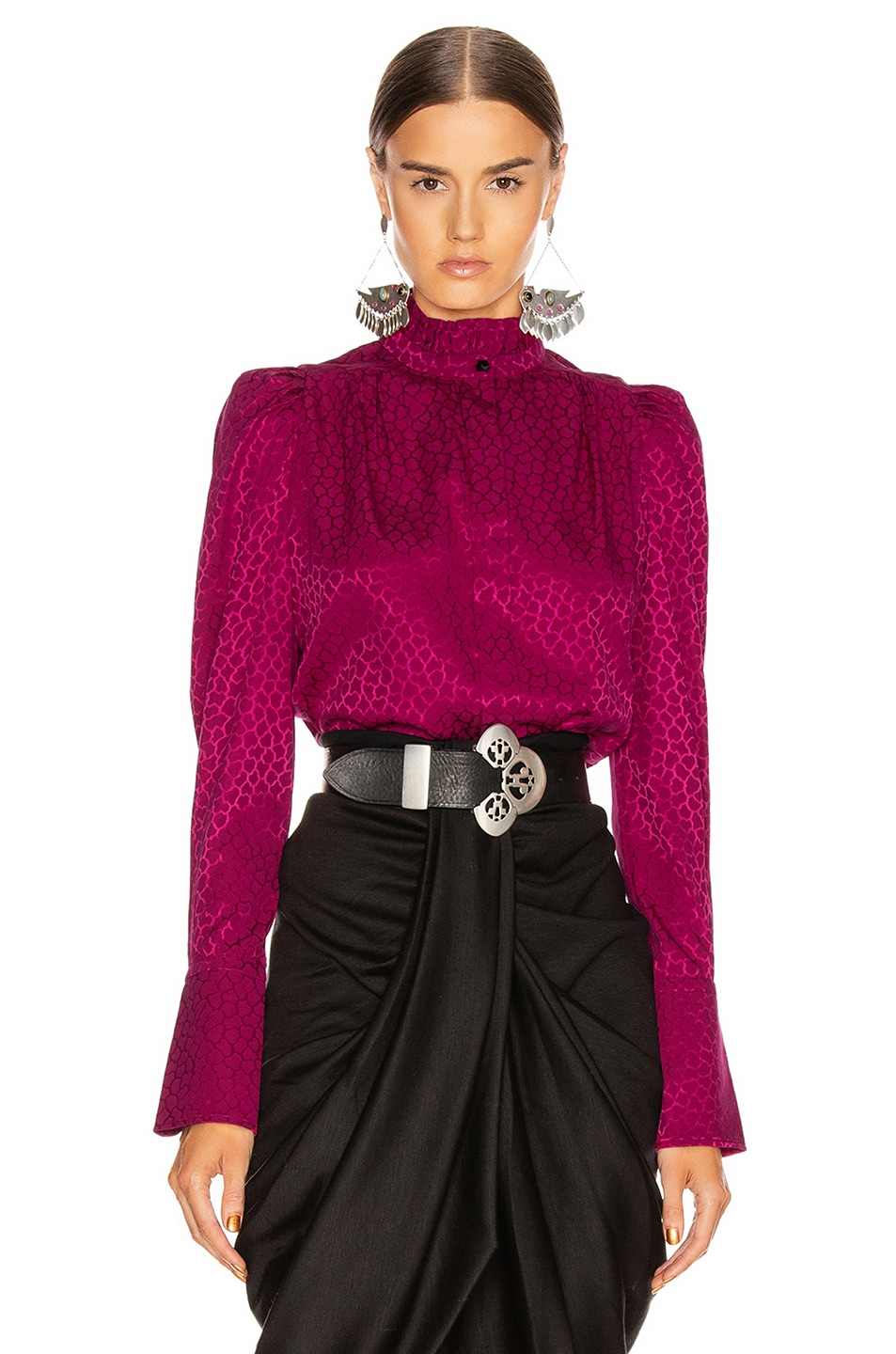 Image 1 of Isabel Marant Lamia Top in Fuchsia