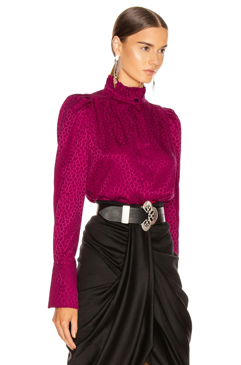 Image 2 of Isabel Marant Lamia Top in Fuchsia