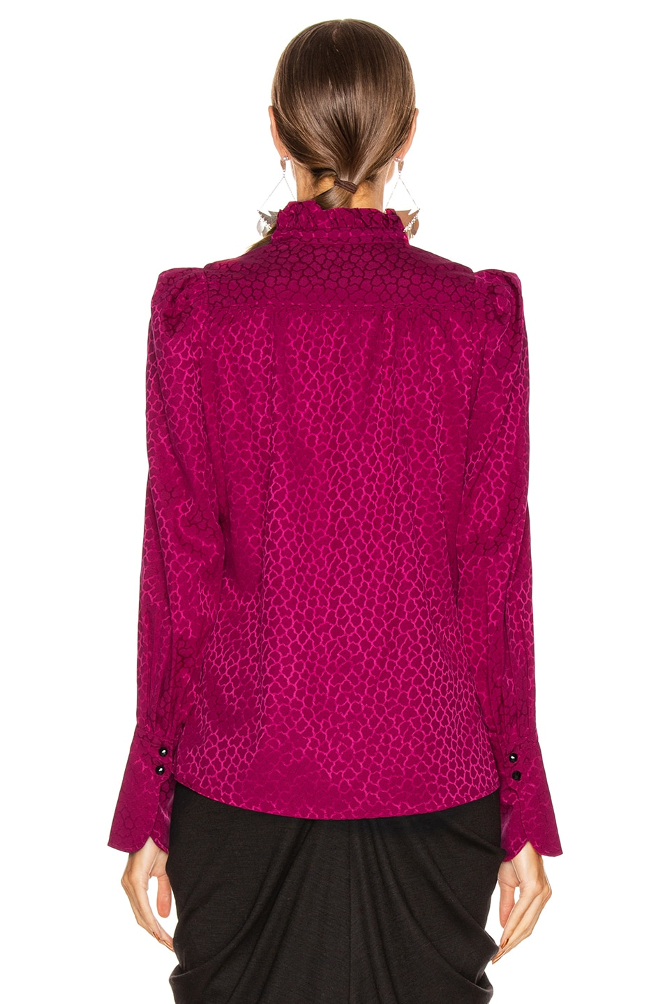 Image 3 of Isabel Marant Lamia Top in Fuchsia