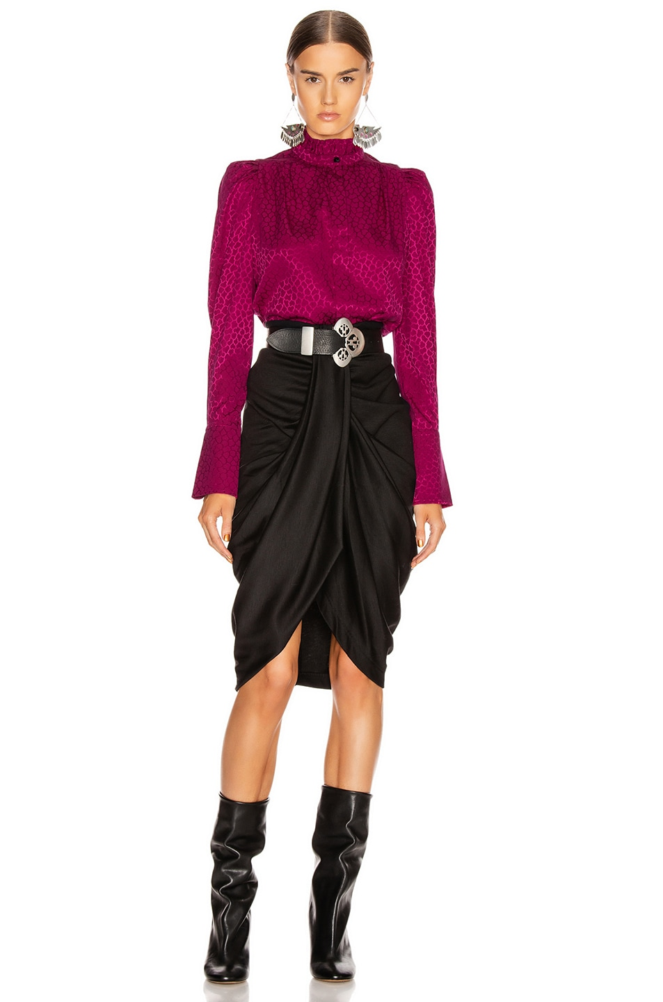 Image 4 of Isabel Marant Lamia Top in Fuchsia