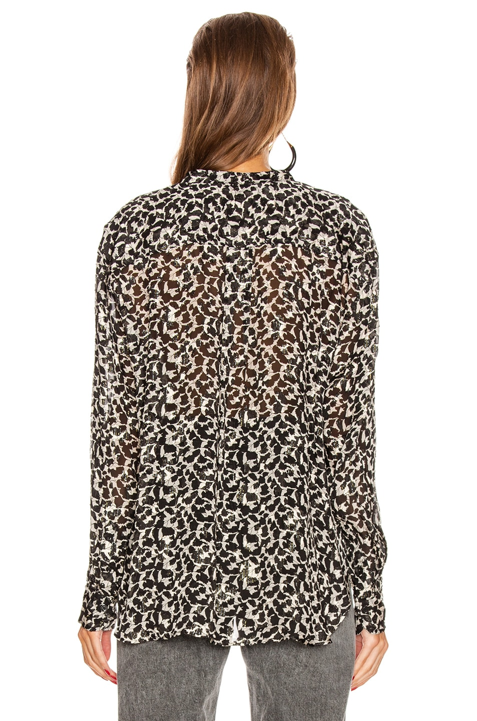 Image 3 of Isabel Marant Daws Top in Ecru in Black & Ecru