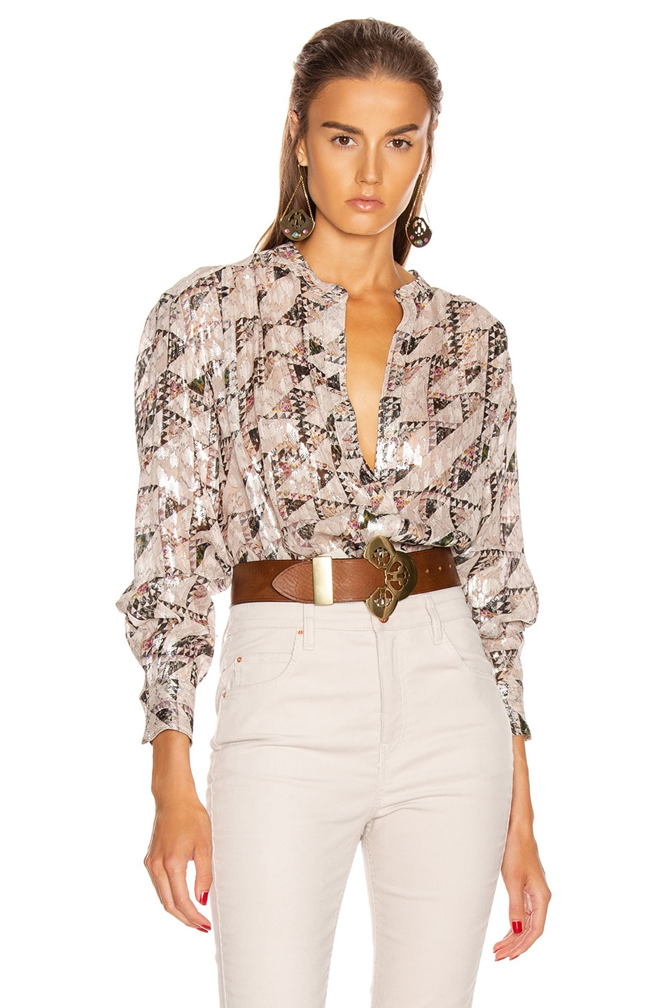 Image 1 of Isabel Marant Daws Top in Ecru