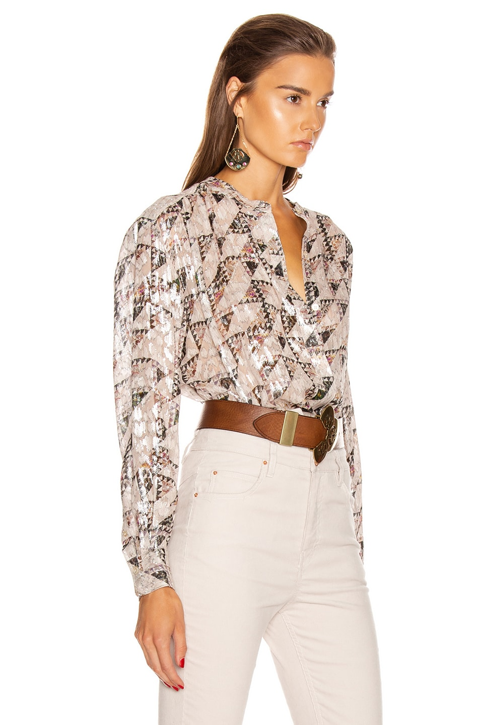 Image 2 of Isabel Marant Daws Top in Ecru