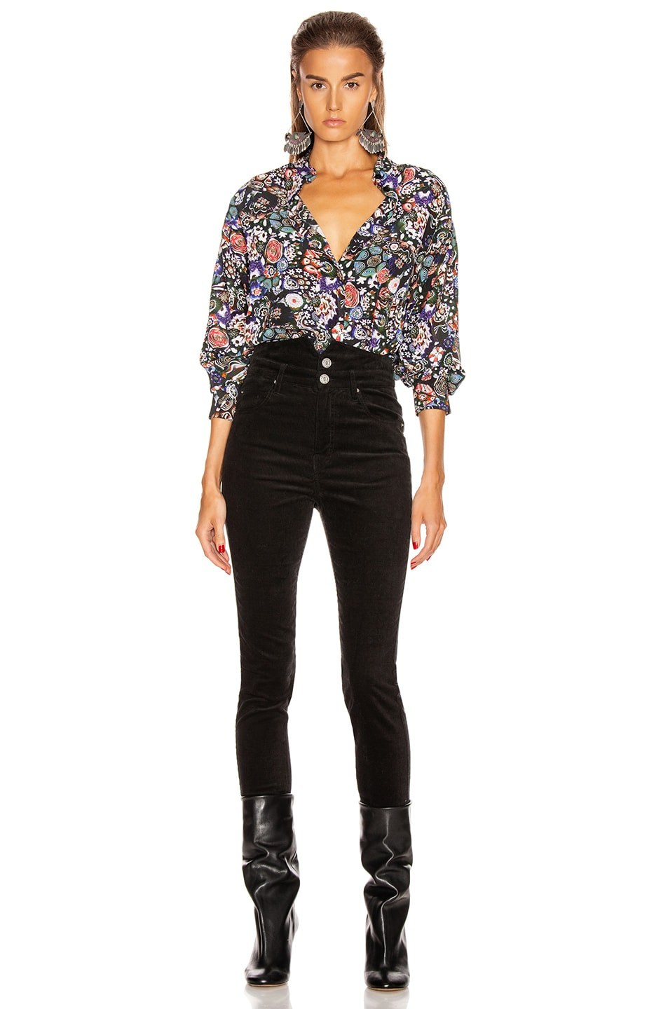 Image 4 of Isabel Marant Cade Top in Black