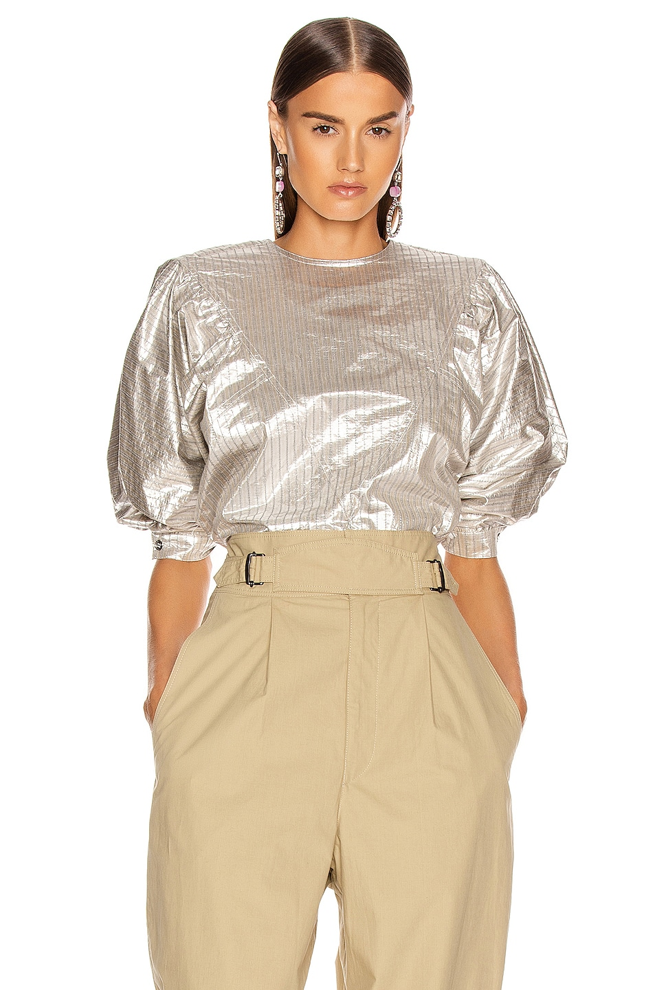 Image 1 of Isabel Marant Rolna Top in Silver
