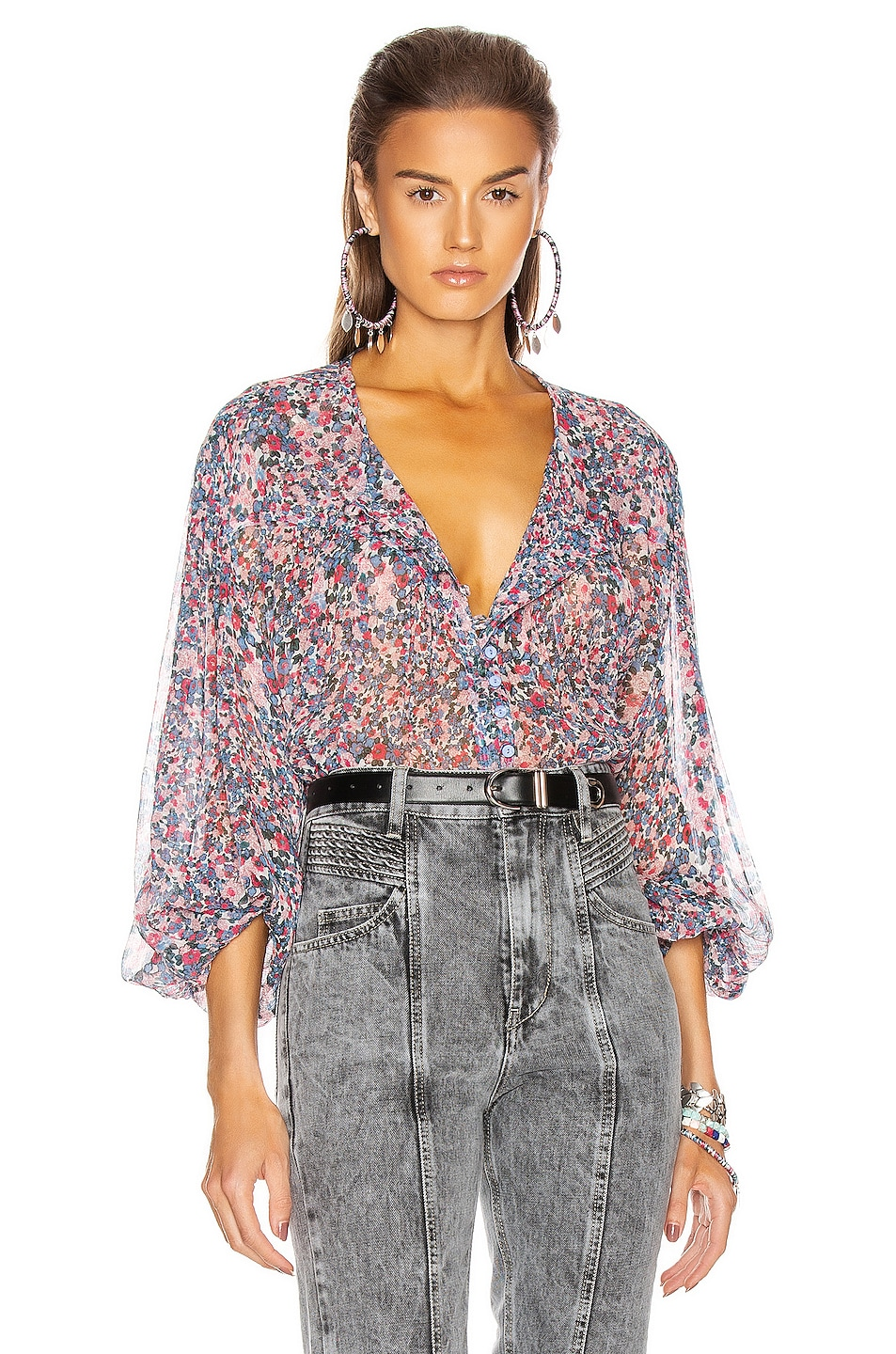 Image 1 of Isabel Marant Orionea Blouse in Blue