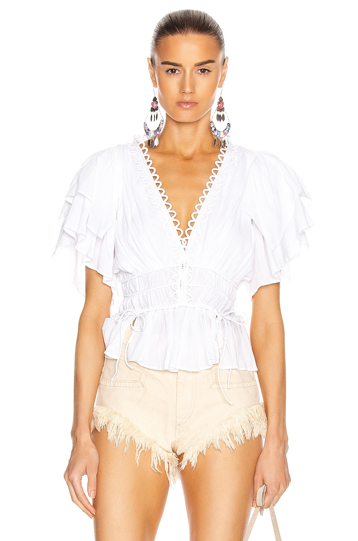 Image 1 of Isabel Marant Yemila Top in White