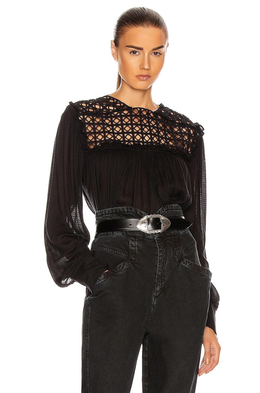 Image 1 of Isabel Marant Dakeria Top in Black
