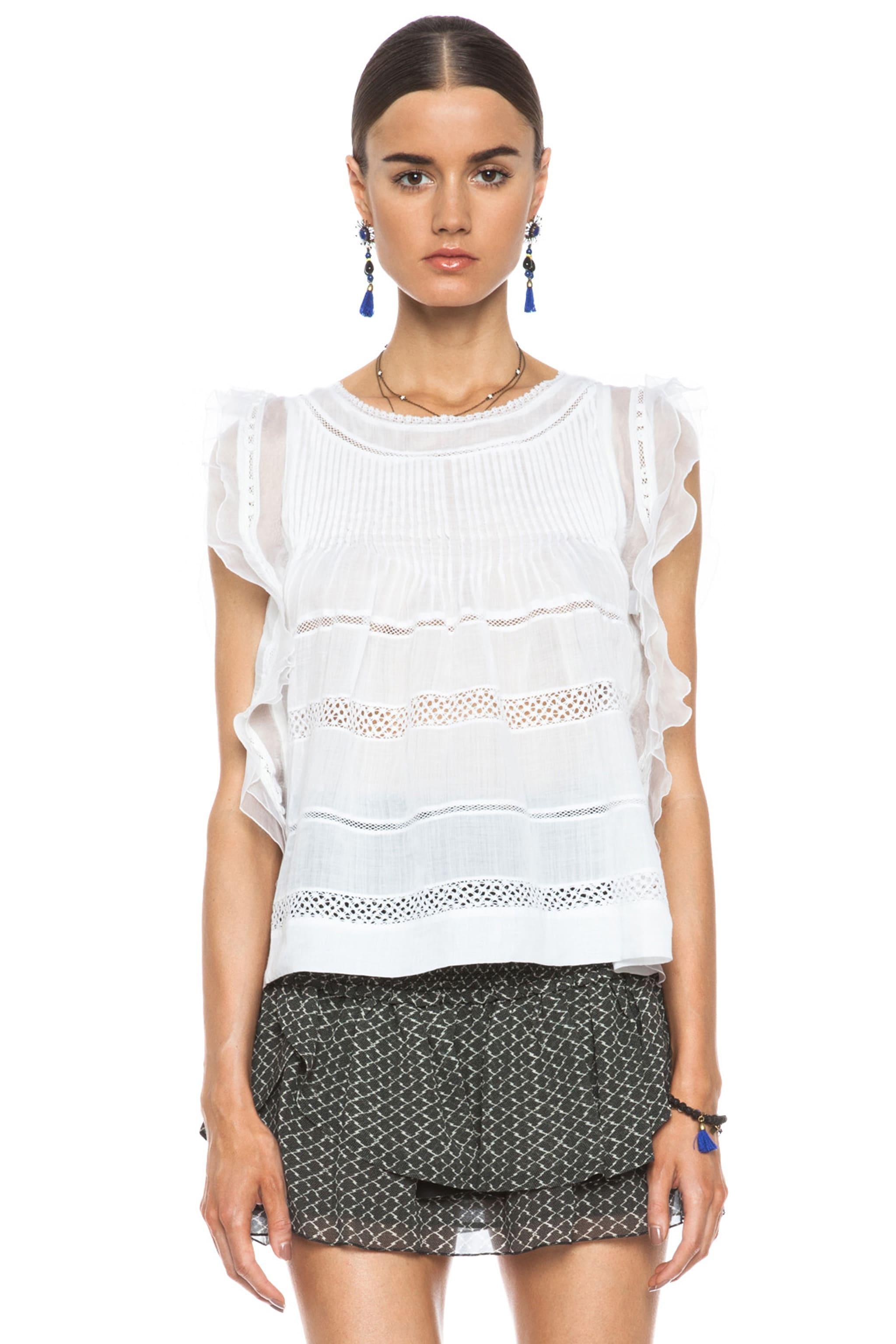 Image 1 of Isabel Marant Ojima Ramie Top in White