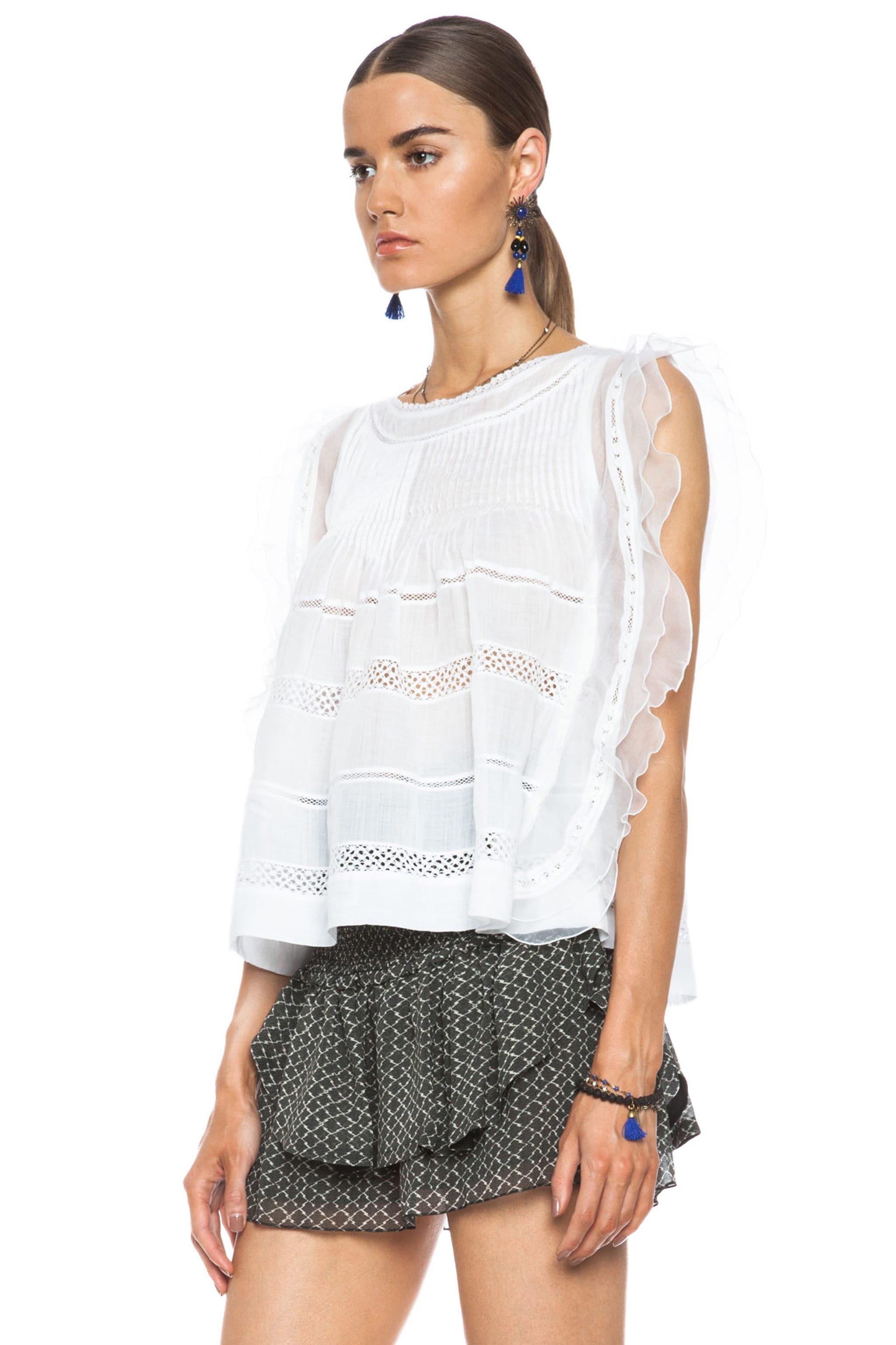 Image 2 of Isabel Marant Ojima Ramie Top in White