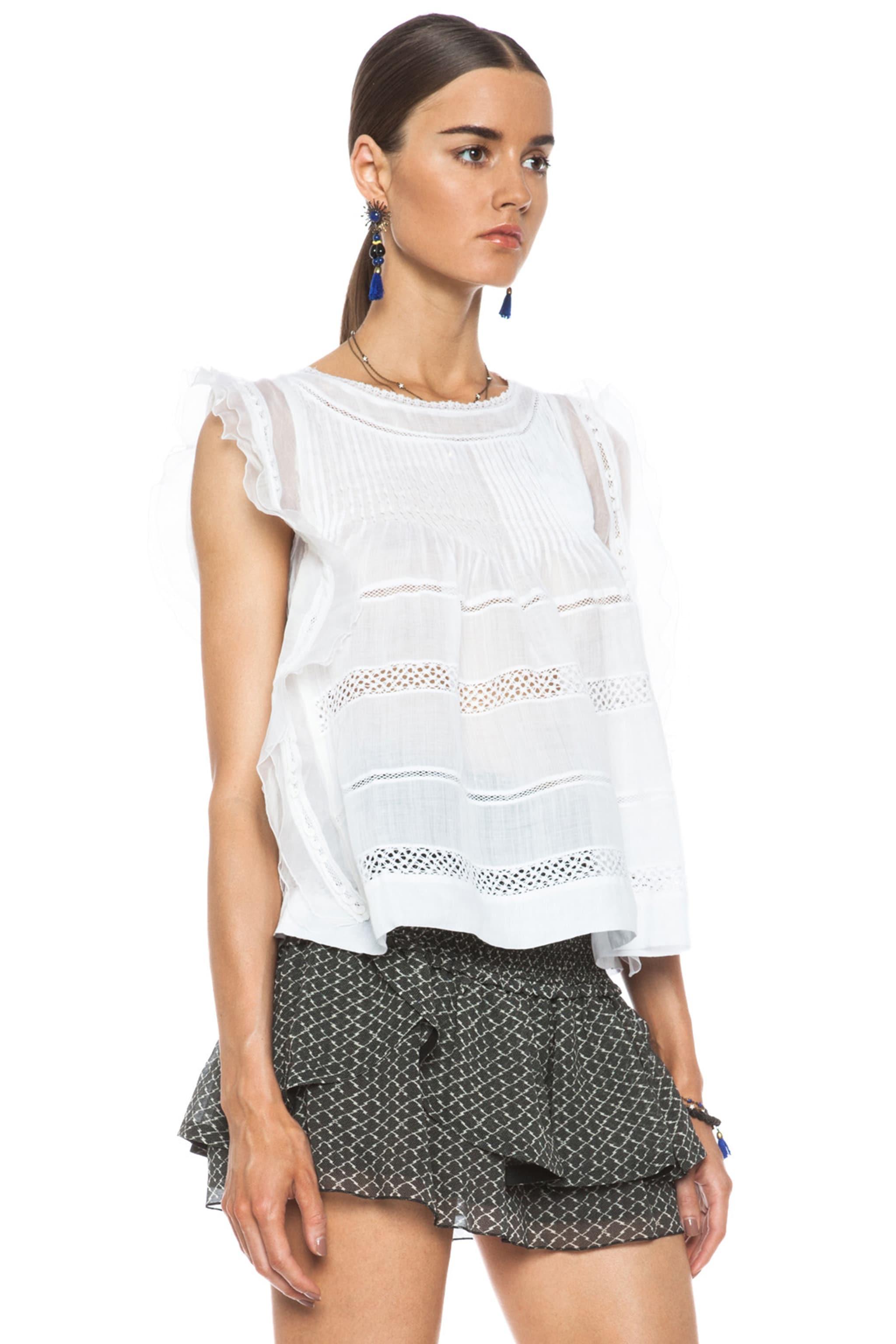 Image 3 of Isabel Marant Ojima Ramie Top in White
