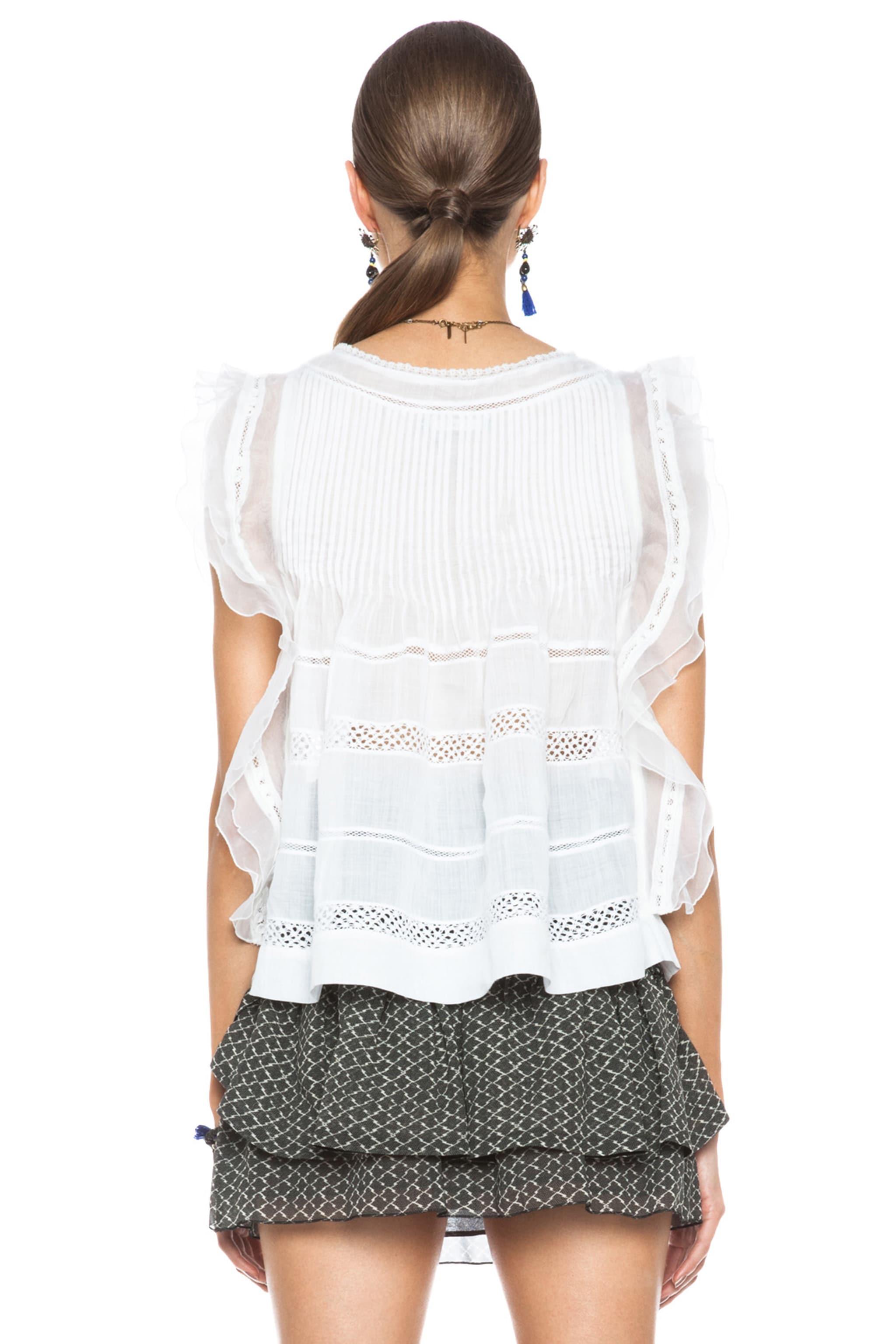 Image 4 of Isabel Marant Ojima Ramie Top in White