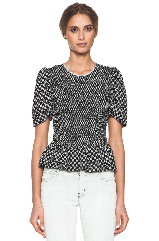 Image 1 of Isabel Marant Megan Diamond Silk Crepe Top in Black