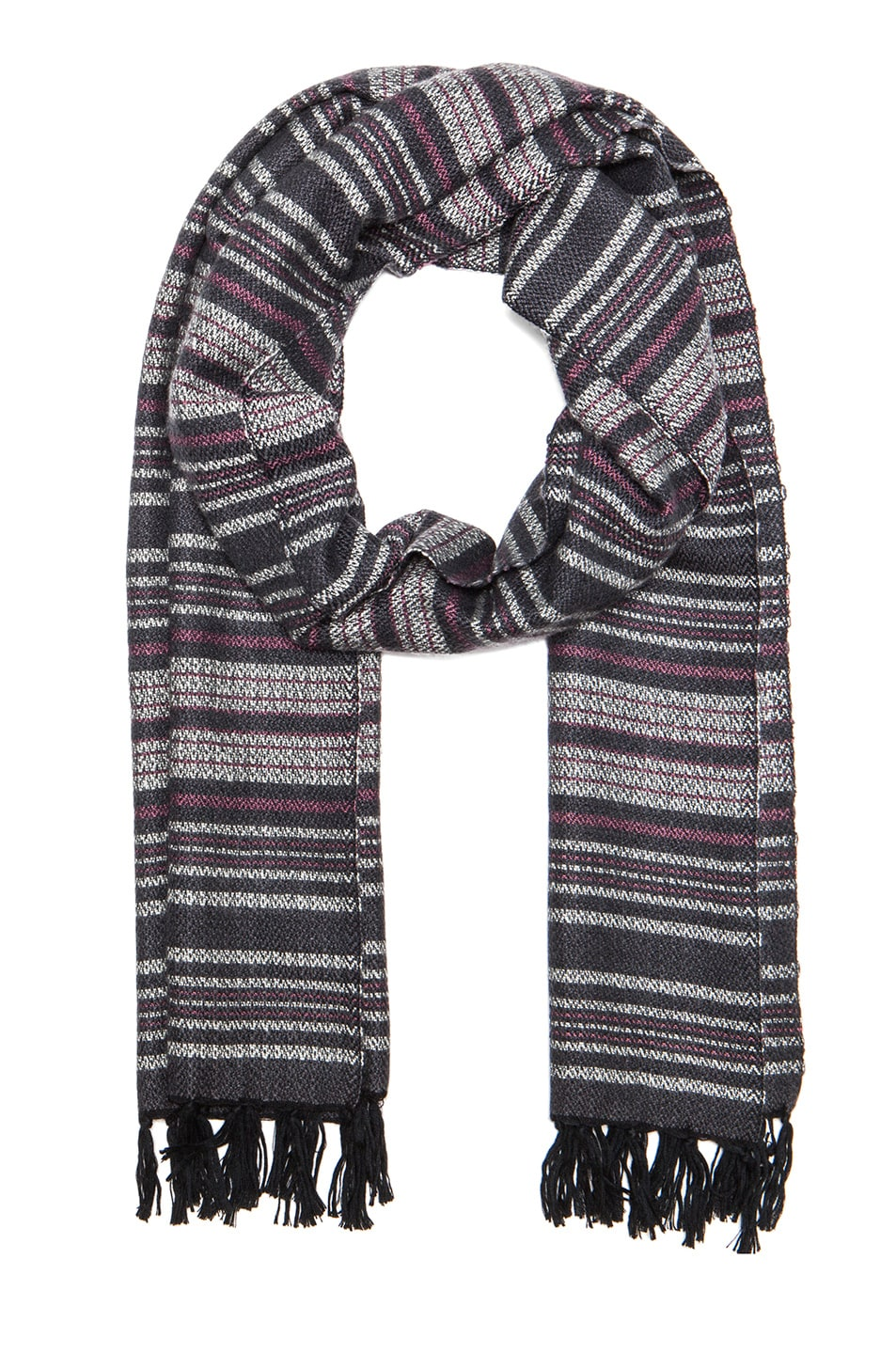 Image 1 of Isabel Marant Zina Striped Scarf in Anthracite