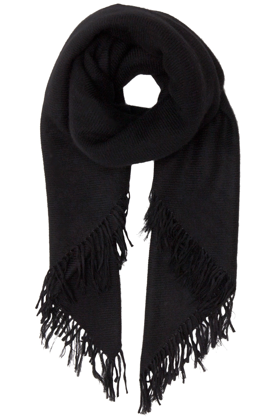 Image 1 of Isabel Marant Zila Cashmere Serge Scarf in Black