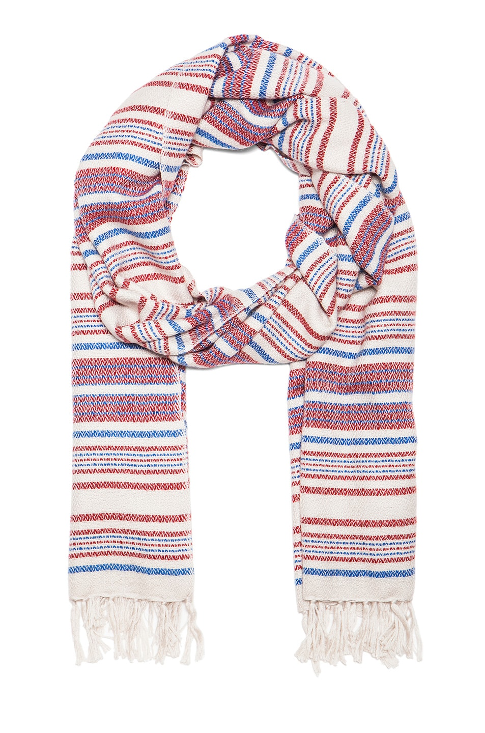 Image 1 of Isabel Marant Zina Striped Scarf in Rouge