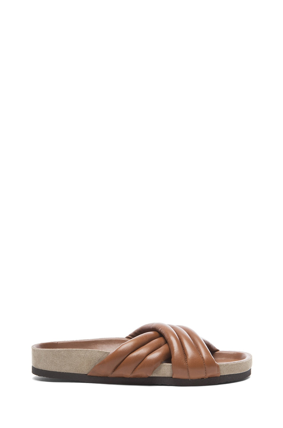 Image 1 of Isabel Marant Holden Leather Sandals in Brown