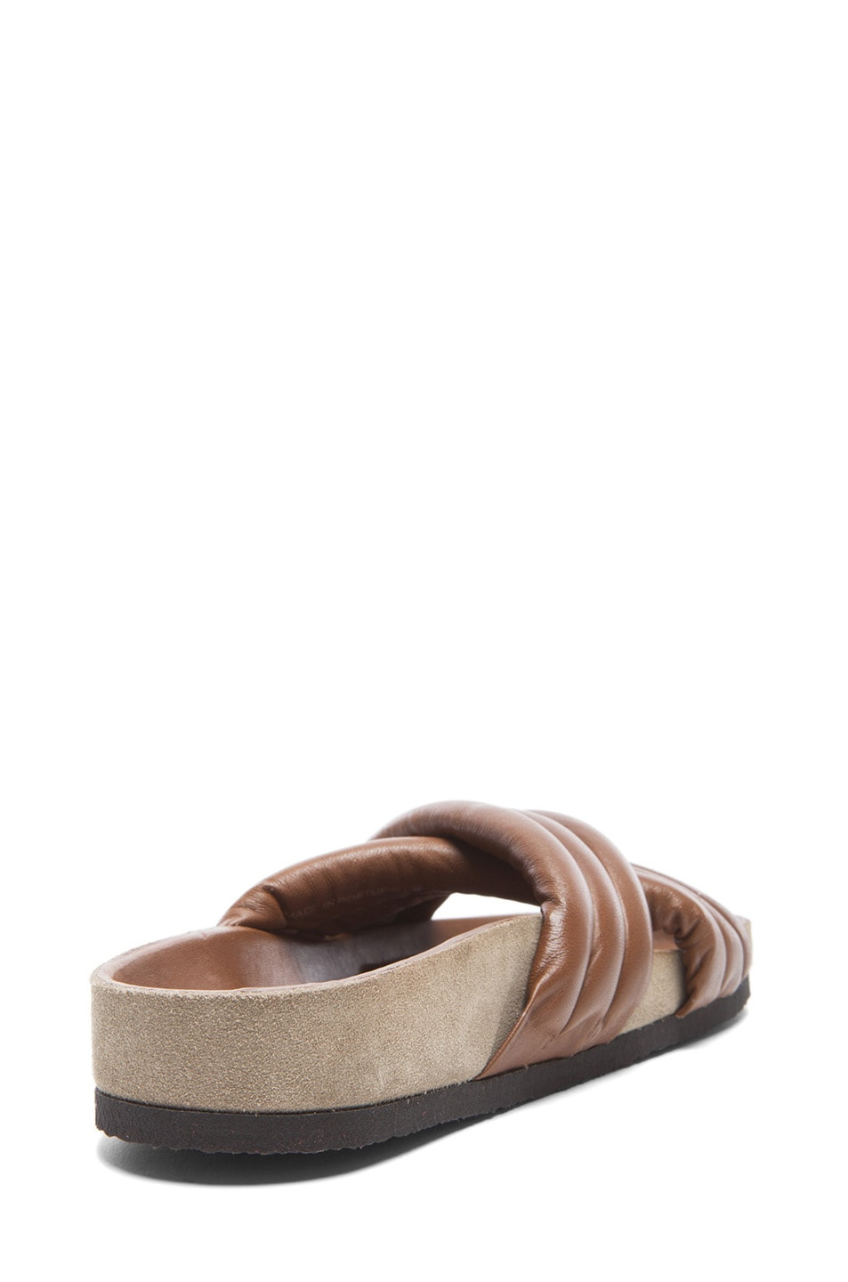 Image 3 of Isabel Marant Holden Leather Sandals in Brown