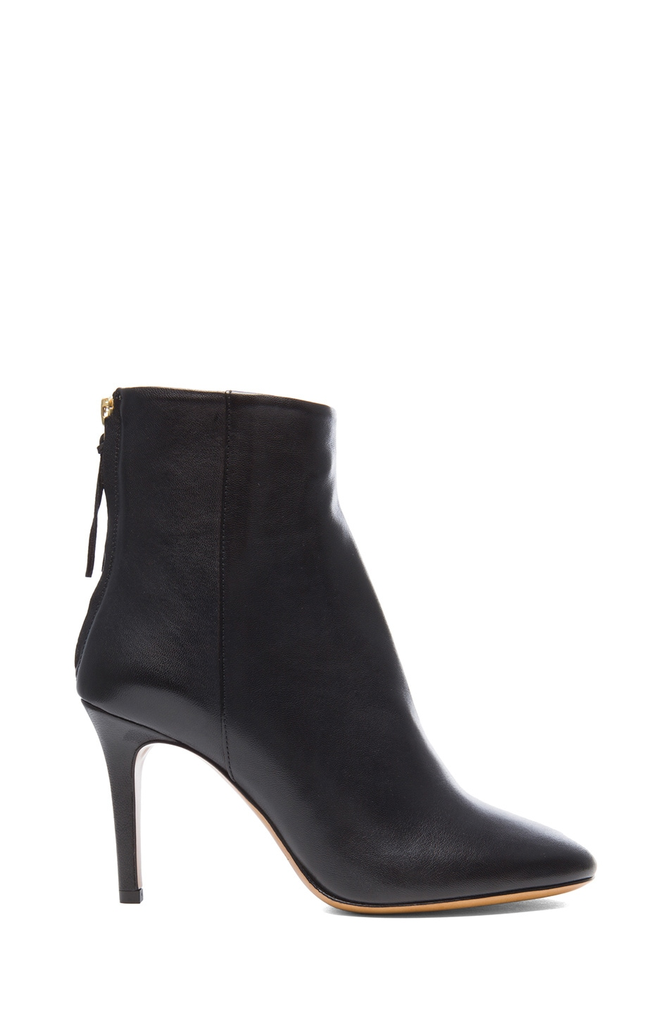 Image 1 of Isabel Marant Aliah Lambskin Leather Booties in Black