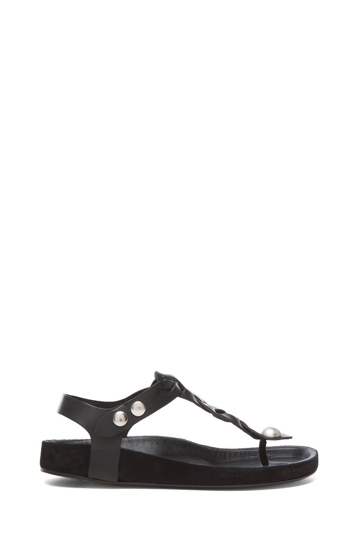 Image 1 of Isabel Marant Brook Lambskin Leather Sandal in Black